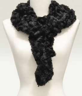 Off White Fluffy Ruffle Faux Fur Scarf Clothing