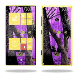 Protective Vinyl Skin Decal Cover for Nokia Lumia 520 Cell Phone T Mobile Sticker Skins Purple Tree Camo Cell Phones & Accessories