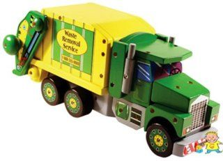 Melissa & Doug Deluxe Wooden Mighty Builder Garbage Truck Toys & Games