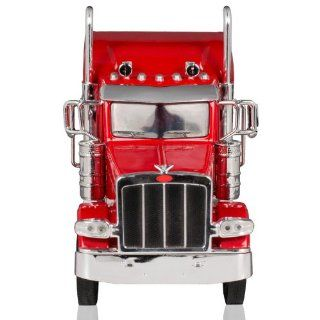 Peterbilt 389/Kenworth W900 Semi Truck Die Cast Toy   132 Scale (Red) Sports & Outdoors