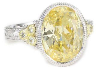 "Judith Ripka ""Estate"" Oval Stone Estate Yellow Ring, Size 8 Jewelry"