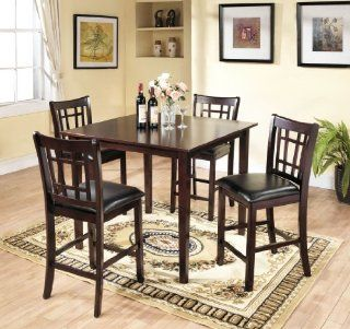 5 Pcs 42x42 Counter Height Table with 4 Stool Set   Dining Room Furniture Sets