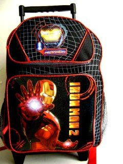 Marvel Iron Man 2   Large Rolling Backpack Kids Luggage 17 inches Full Size.   Great item for kids.  Toys & Games