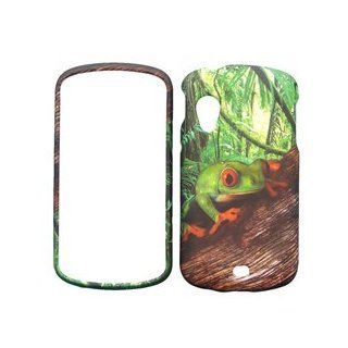 Samsung Stratosphere i405 i 405 Green Jungle Tree Forest Frog Toad Design Snap On Hard Protective Cover Case Cell Phone Cell Phones & Accessories