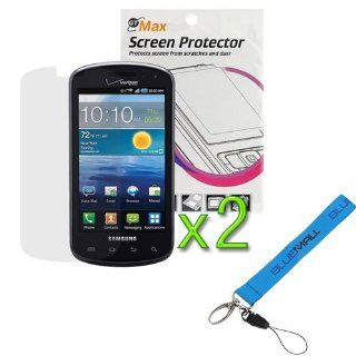 GTMax 2x Clear LCD Screen Protector for Verizon Samsung Stratosphere SCH I405 with*Strap Lanyard* Cell Phones & Accessories