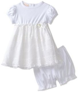 Biscotti Baby Girls Infant English Eyelet Dress, White, 24 Months Clothing