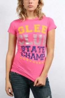 Glee   Juniors / Womens State Champions T Shirt in Hot Pink, Size X Large, Color Hot Pink Clothing