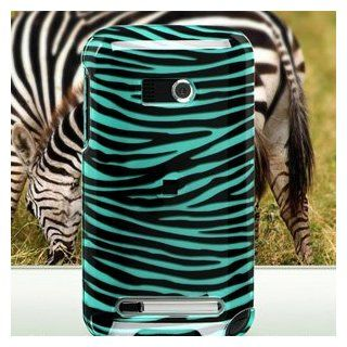 Plastic Protector Case (Turquoise/Black Zebra Design) for Verizon HTC Imagio Cell Phones & Accessories