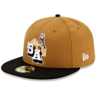 San Antonio Missions Authentic Alternate 1 Fitted Cap Sports & Outdoors