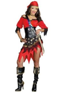 Dreamgirl Women's Rum Punch Pirate Costume Clothing
