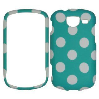 Light Blue White Dot Faceplate Hard Case Protector for Samsung Brightside U380 Cell Phones & Accessories