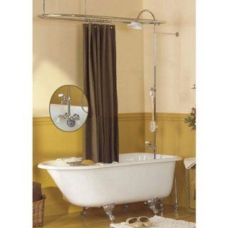 Sunrise Specialty Tub Wall Mount Shower Enclosure 424 C 400 20C Chrome   Tub Filler Faucets