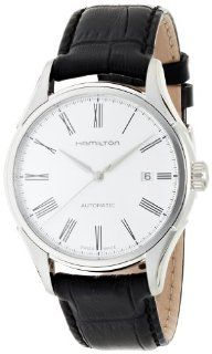Hamilton Valiant Silver Dial Leather Strap Mens Watch H39515754 Hamilton Watches