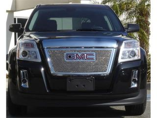 T REX 2010 2012 GMC Terrain Upper Class Polished Stainless Mesh Grille   With Formed Mesh   Overlay w/ Logo Opening POLISHED 54153
