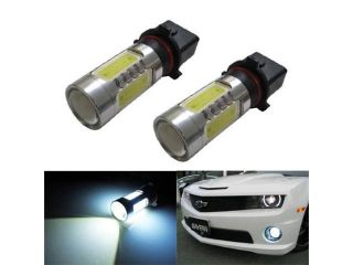 "iJDMTOY HID ""equivalent"" CREE Plasma High Power P13W LED Bulbs For Chevy Camaro Daytime/Fog Lights, Xenon White"