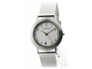 Womens Skagen Steel Slim Dress Date Watch 16SSGS