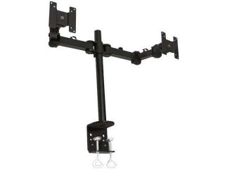 "MonMount LCD 194 Dual LCD Monitor Stand Desk Clamp for Monitors 14"" 24"" (Black)"