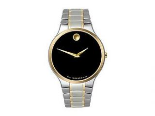 Movado Museum Collection Two tone Bracelet Black Dial Men's watch #606388