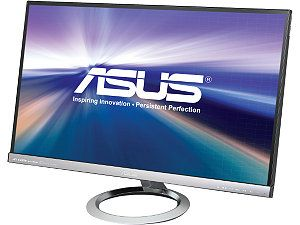 "ASUS MX279H Silver / Black 27"" 5ms (GTG) HDMI Widescreen LED Backlight LCD Monitor, IPS Panel 250 cd/m2 80,000,000:1 Built in Speakers"