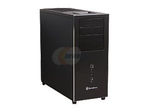 SilverStone Temjin Series SST TJ04B E Black Aluminum front panel, steel body ATX Mid Tower Computer Case