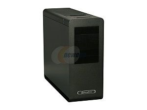 SilverStone Fortress Series FT02B USB3.0 Black Aluminum / Steel Computer Case with 2 x USB3.0 ports (Black)