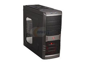 SilverStone SST RL01B W USB 3.0 Black Steel / Plastic ATX Mid Tower Computer Case with Side Panel Window