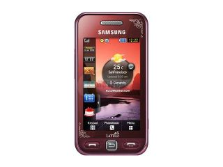 "Samsung Star Red Unlocked GSM Bar Phone w/ 3"" Touch Screen / Bluetooth v2.1 (S5230)"