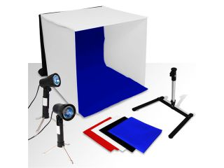 LoadStone Studio Table Top Photography Studio Continuous Lighting Tent Kit  Photo Tent 16inch Light Kit  & Mini Camera Tripod