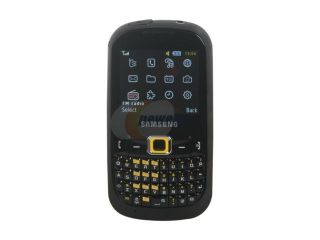Samsung CorbyTXT Black/Yellow Unlocked GSM Smart Phone with Full QWERTY Keyboard (B3210)
