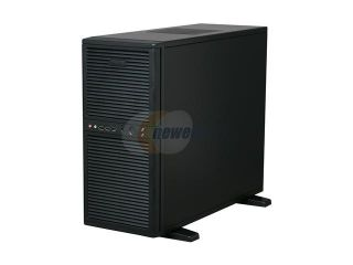 "Open Box Athena Power CA SWH02B95 Black Steel Pedestal Server Case With 80 PLUS Certified EPS 12V 950W Green PFC Dual Fan Power Supply 9 External 5.25"" Drive Bays"