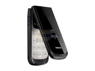 Nokia Black Unlocked GSM Flip Phone w/ 1.3 MP Camera / Bluetooth v2.0 (2720 Fold)