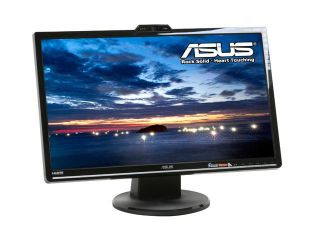 "ASUS VK246H Black 24"" 2ms(GTG) HDMI Widescreen LCD Monitor 300 cd/m2 DC 1000:1 (ASCR 20000:1 ) Built in Speakers  w/ 1.3m Pixel Webcam"