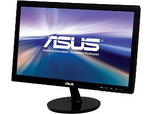 "ASUS VS207T P Black 19.5"" 5ms Widescreen LED Backlight LCD Monitor 250 cd/m2 80,000,000:1 Built in Speakers"