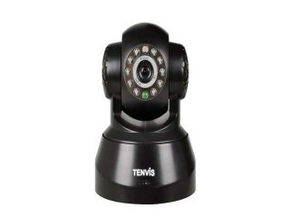 TENVIS JPT3815W Wireless IP Pan/Tilt/ Night Vision Internet Surveillance Camera Built in Microphone With Phone remote monitoring support(Black)