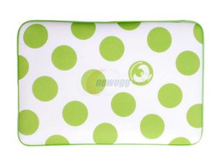 "Isis Dei Green Polka Dot Memory Foam Sleeve for 15"" MacBook Pro Model GPMF15"