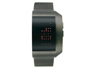 Diesel Digital IP Bracelet Negative Black Dial Men's watch #DZ7162