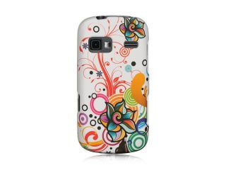 LG Rumor Reflex White Autumn Flower Design Crystal Rubberized Case