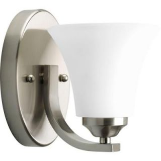 Progress Lighting Adorn Collection Brushed Nickel 1 light Vanity Fixture P2008 09