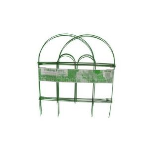 Glamos Wire Products 18 in. x 10 ft. Light Green Folding Wire Garden Fence 778099