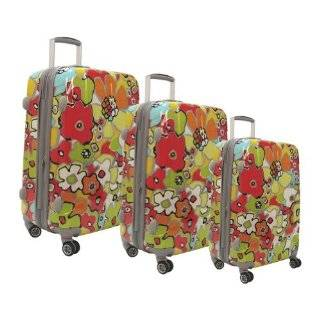 Heys USA Luggage Britto Flowers Hard Side 4 Piece Luggage