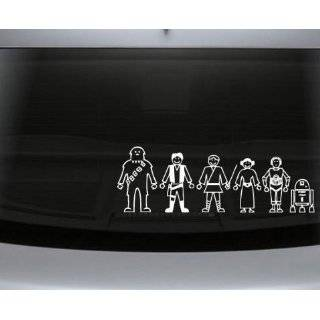 Wars Family Decal Set Stick People Car or Wall Vinyl Decal Stickers